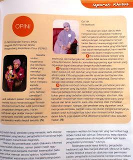 Mejeng (lagi) di Majalah Kesehatan Nirmala