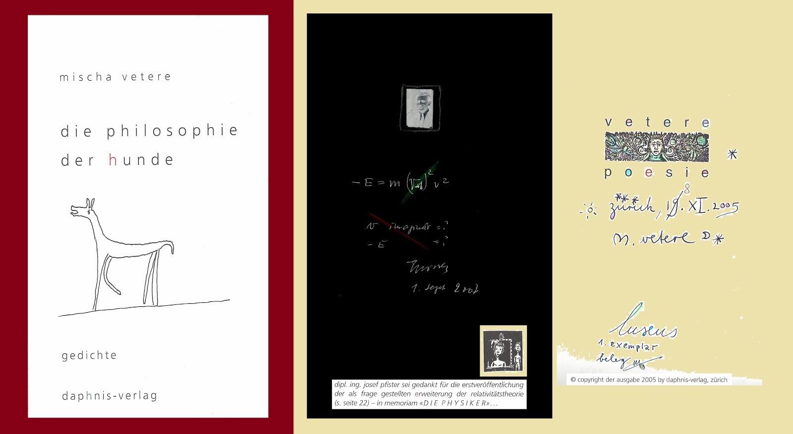 die erweiterung der relativitätstheorie albert einsteins in DIE PHILOSOPHIE DER HUNDE, ch 2005