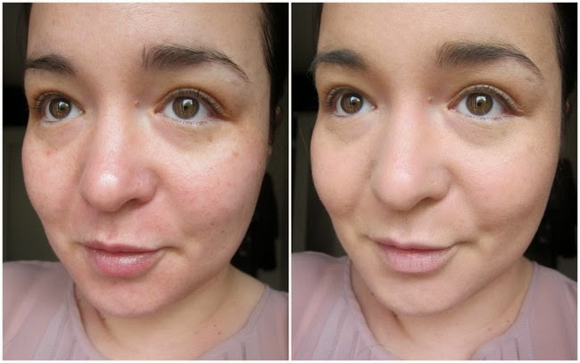 Chanel Perfection Lumière Velvet Foundation Before and After