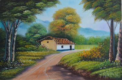 fincas-de-pueblos-pintura-oleo