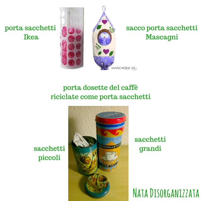 Eccezionale Nata disorganizzata: Come organizzare i sacchetti di plastica IM39