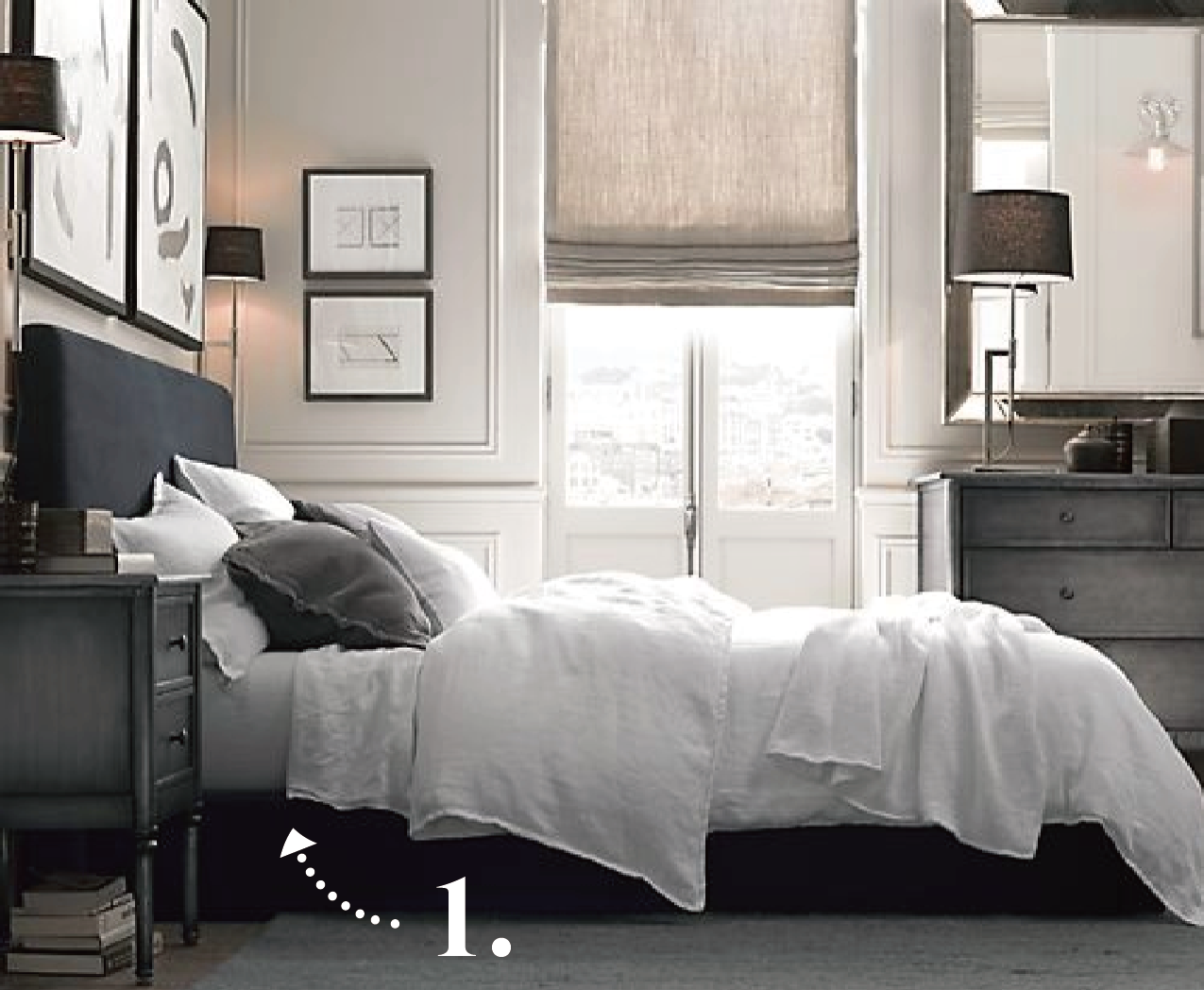 Restoration hardware catalogue bedroom interiors blog for Bed rooms design