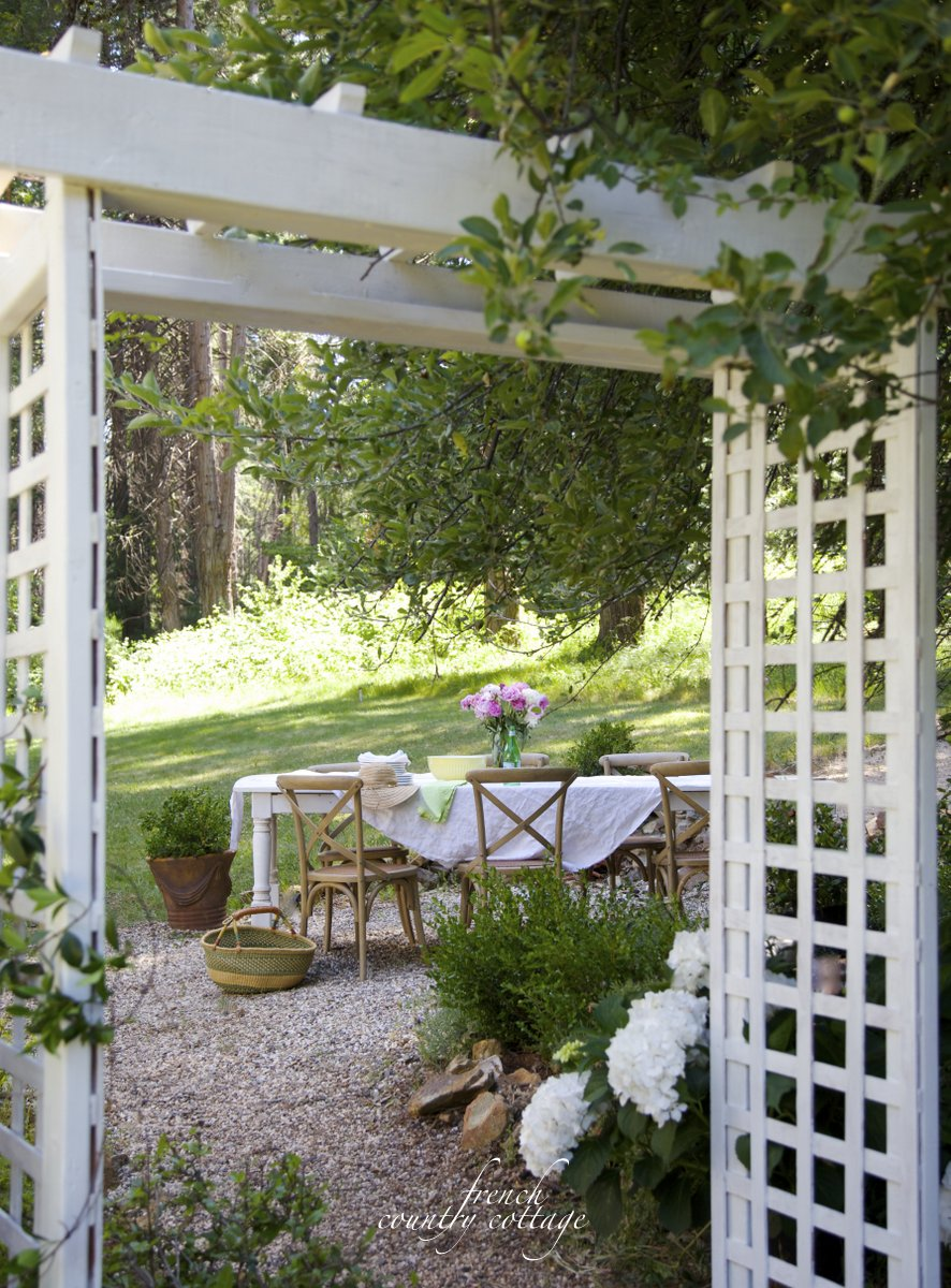 Cottage garden arbor french country cottage for French country cottages