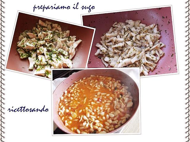 Pisarei e faso' (fagioli) ricetta piacentina prepariamo il sugo ai fagioli