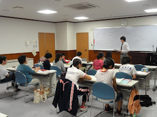 Students Studying English for their homestay.