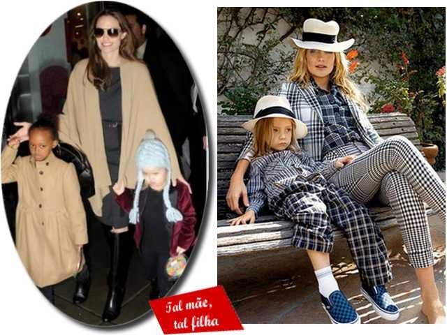 Famosas e suas filhas combinadinhas no estilo
