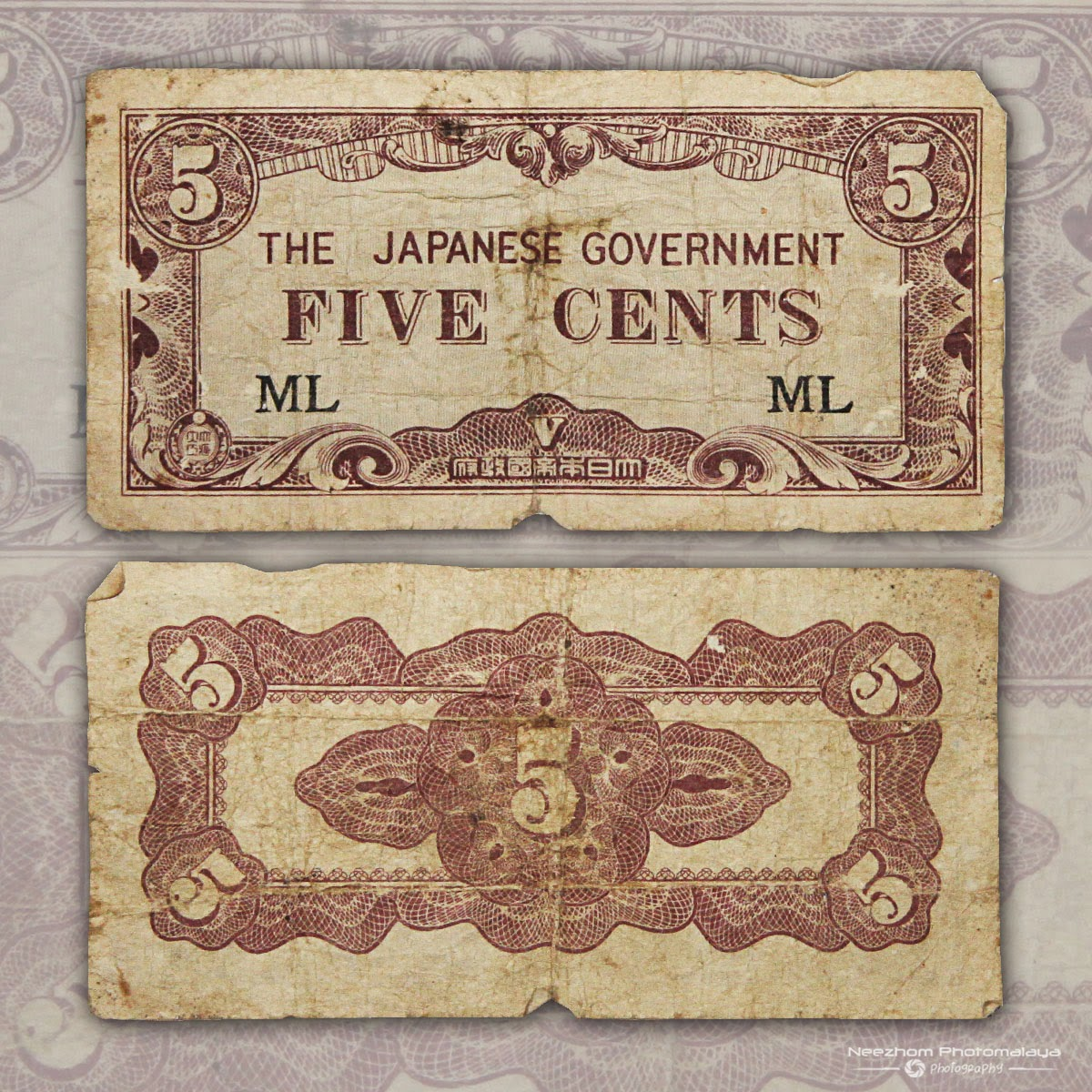 5 cents Japanese Occupation Malaya