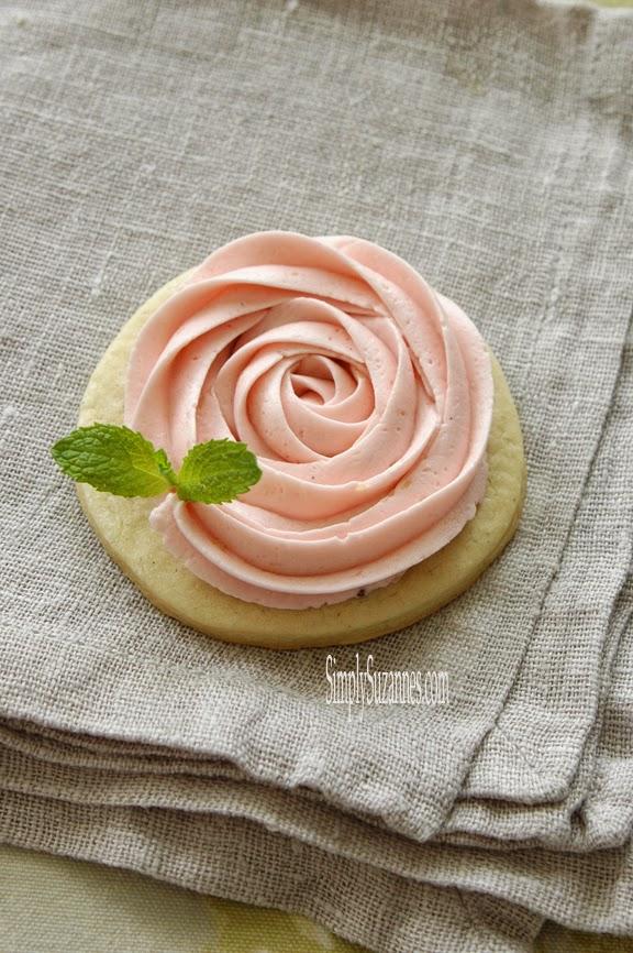 rosette vanilla bean sugar cookies