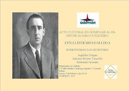Cena Celta en homenaje a Alvaro Cunqueiro
