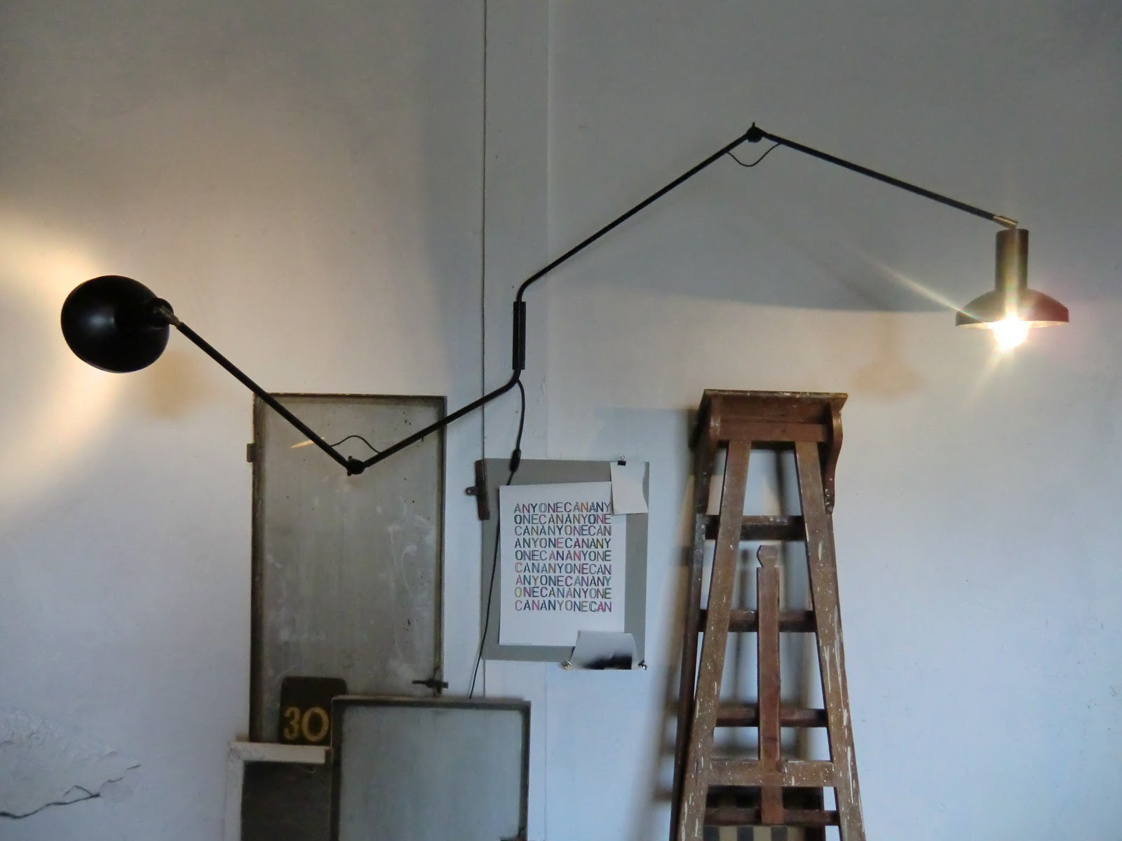 Wo and w collection double lampe murale articul e vintage - Lampe articulee murale ...