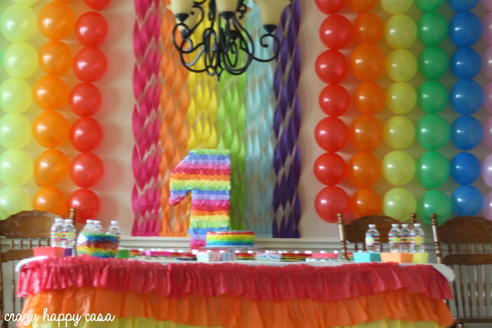 A Rainbow Birthday Party Crazy Happy Casa