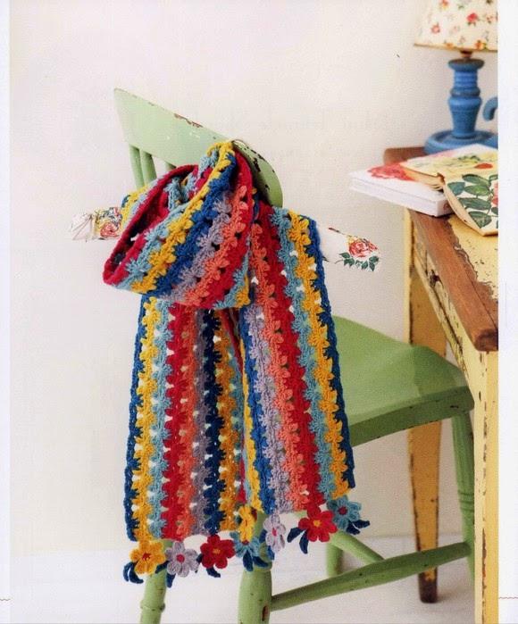 Bufanda multicolor al crochet