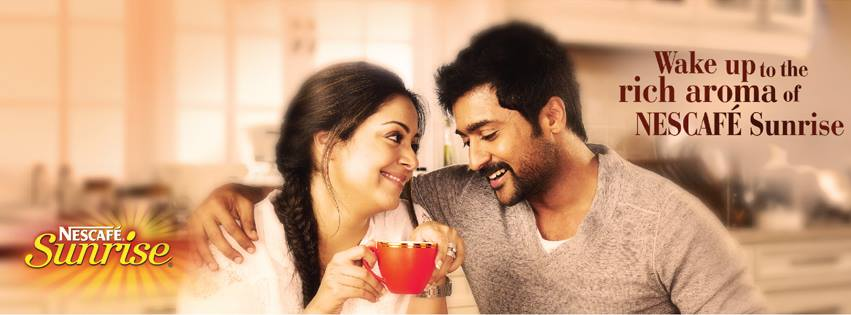 surya jyothika in nescafe sunrise ad pics actor surya blog