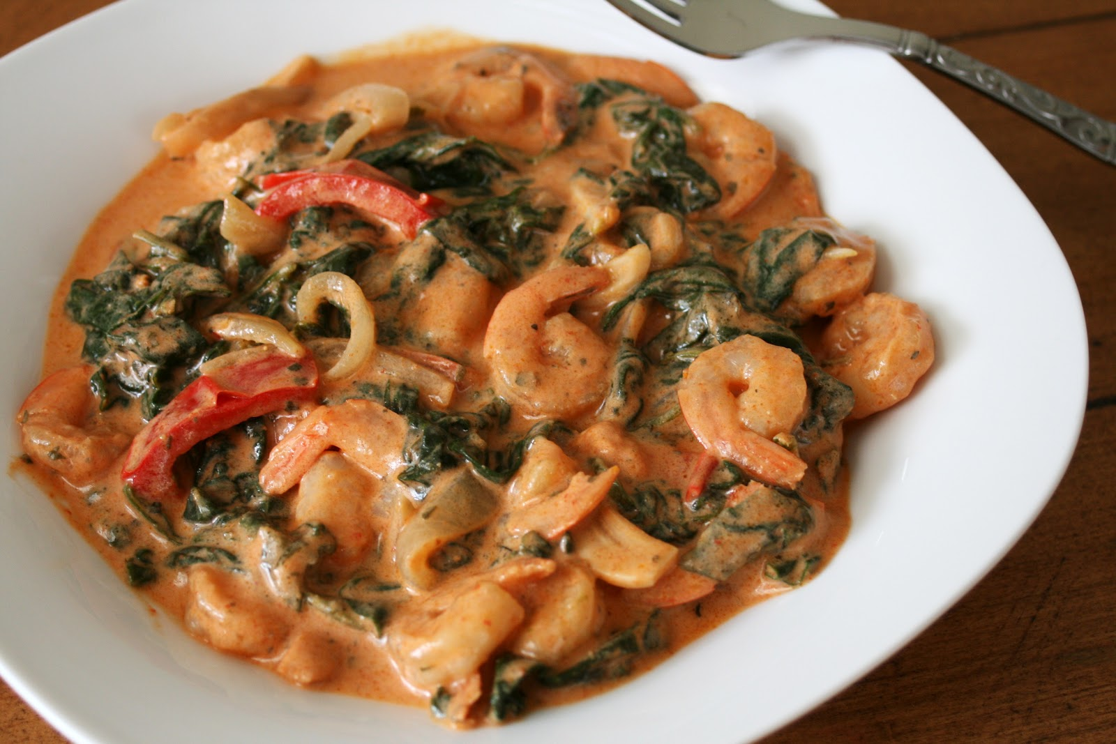 Thee Cook: Thai Coconut Shrimp and Spinach Curry