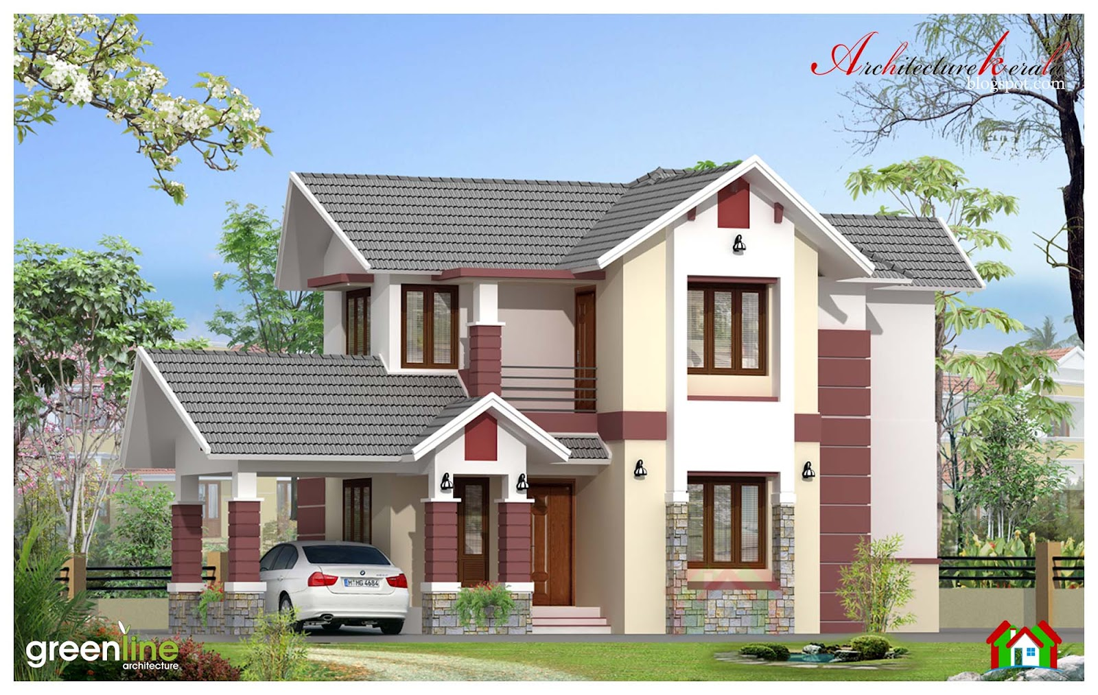 3 bhk kerala home design in 1680 sq ft architecture kerala for Home designs kashmir
