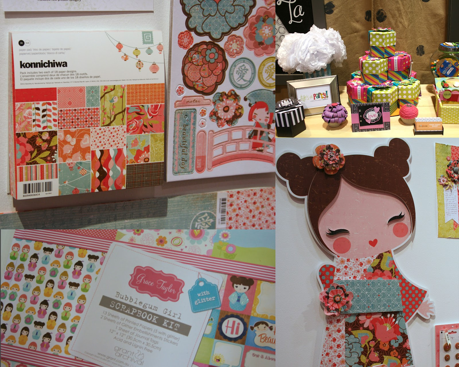 Konichiwa from basic grey asian themes and those cute little asian girls were showing up all over the show i also found a couple of great paper companies