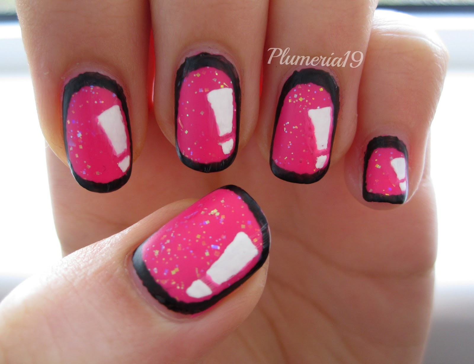 Plumeriapainted Pop Out Nails