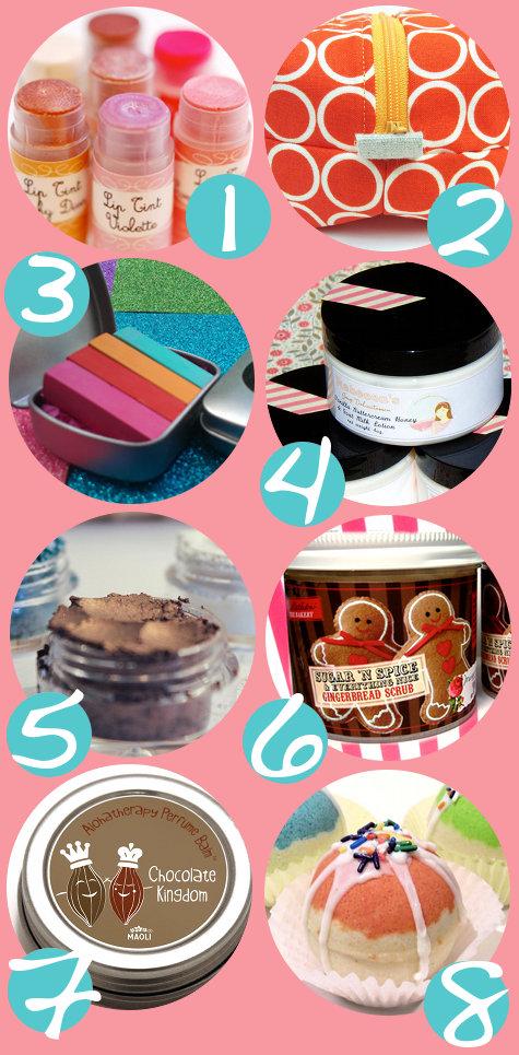 Handmade Bath and Beauty Stocking Stuffer Gift Ideas for Women