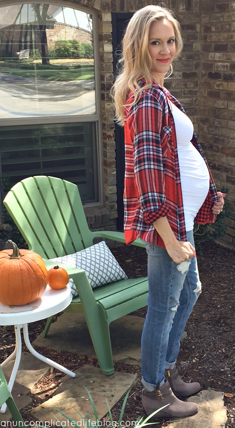 An uncomplicated life blog fall maternity style pairing nonmaternitymaternity clothes to expand your wardrobe while pregnant ombrellifo Image collections