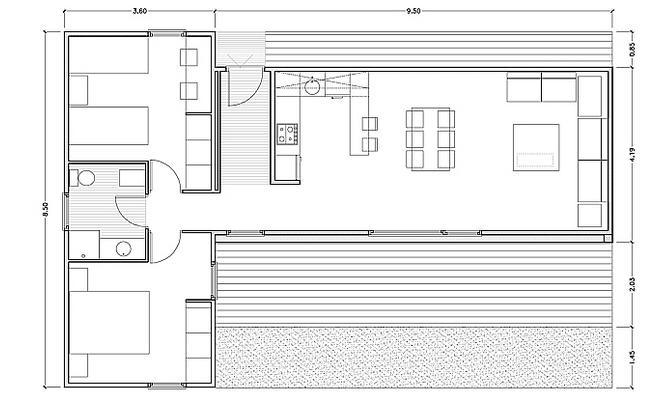 Planos de casas peque as casas modulares de dise o - Viviendas modulares diseno ...