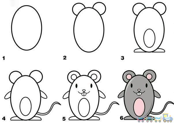 Vẽ một con chuột đơn giản