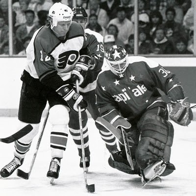Vs. Philly: Clint Malarchuk started four games at the Spectrum while with the Caps...