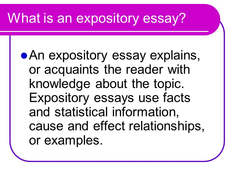 Topic for expository essay