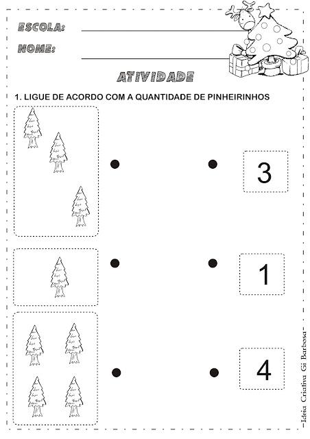 Atividades Matemática Temática Natal