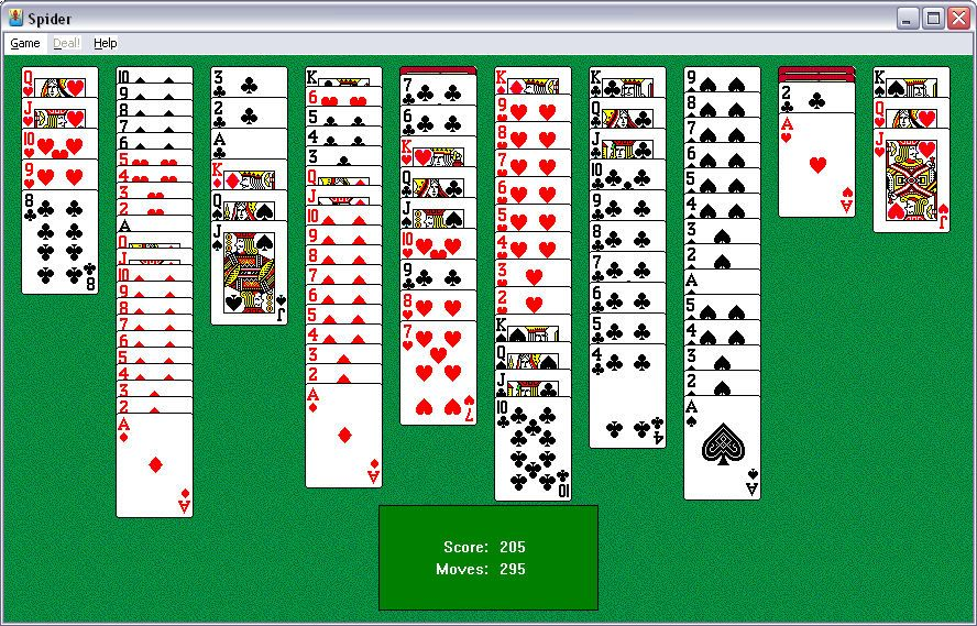 Microsoft Spider Solitaire, a widely played mind sport on PC