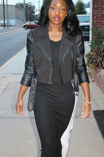 Ashley Udoh Maxi Dress with Moto Jacket