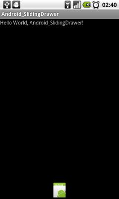 Example of SlidingDrawer