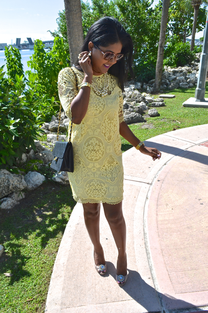 zara lace yellow dress astoria in heels