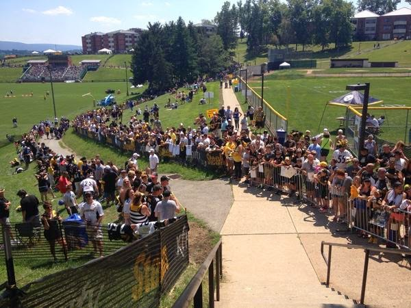 steelers training camp st. vincents 2014 latrobe