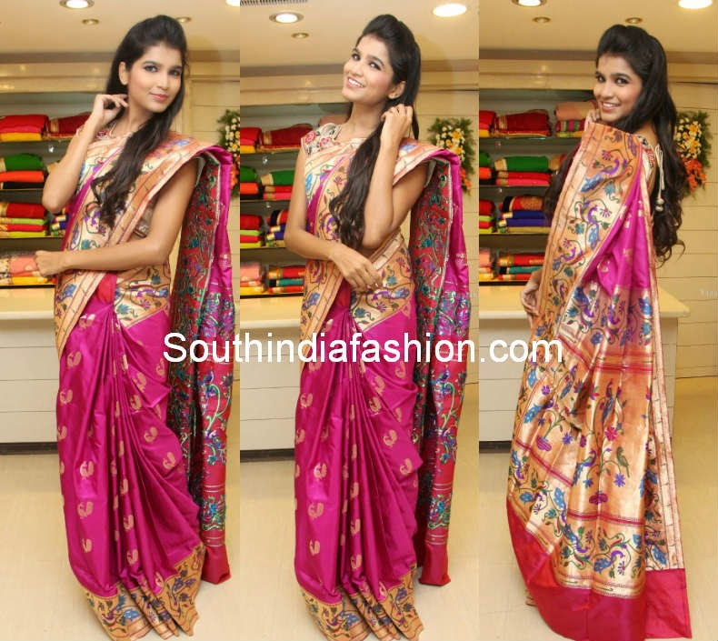 pythani silk saree