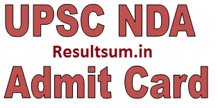UPSC NDA NA 1 Admit Card 2015