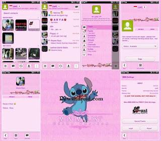 BBM Mod Background Pink Tema Girly 2.8.0.21