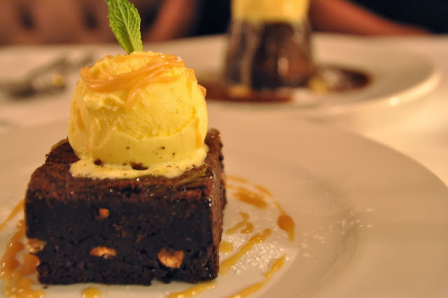The+Portman+restaurant+london+review+chocolate+brownie