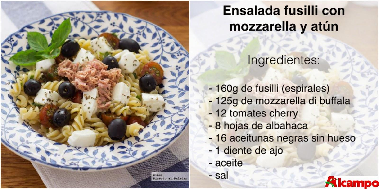 Ensalada Mozzarella Fusilli