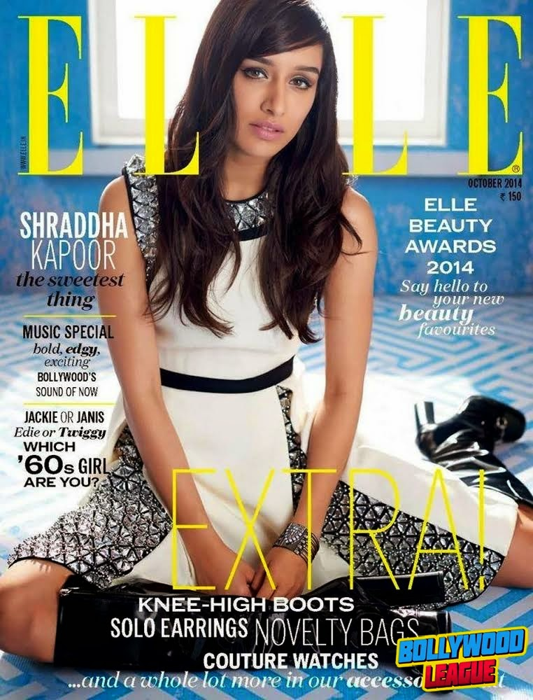 Shraddha Kapoor Graces The cover of Elle Magazine Month of October 2014