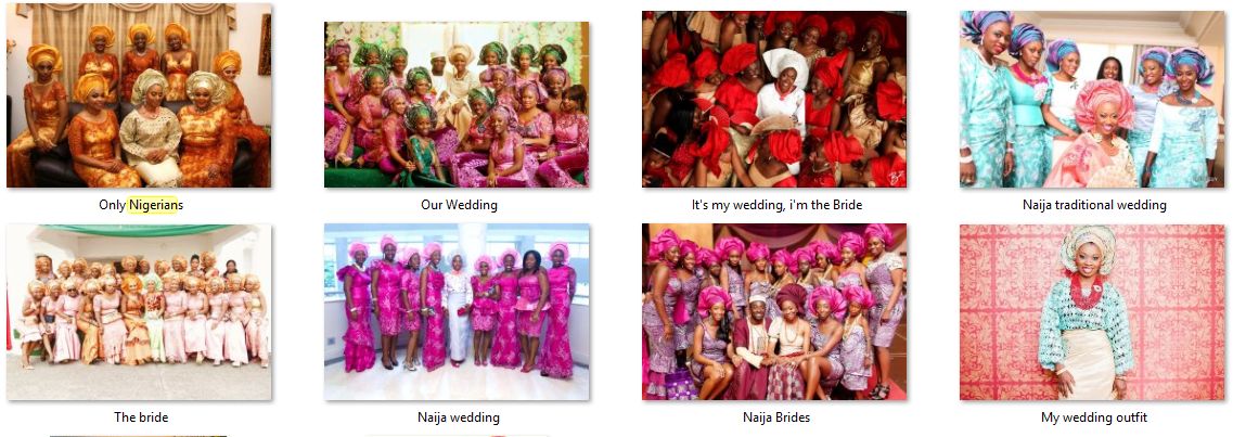 Traditional wedding in Nigeria