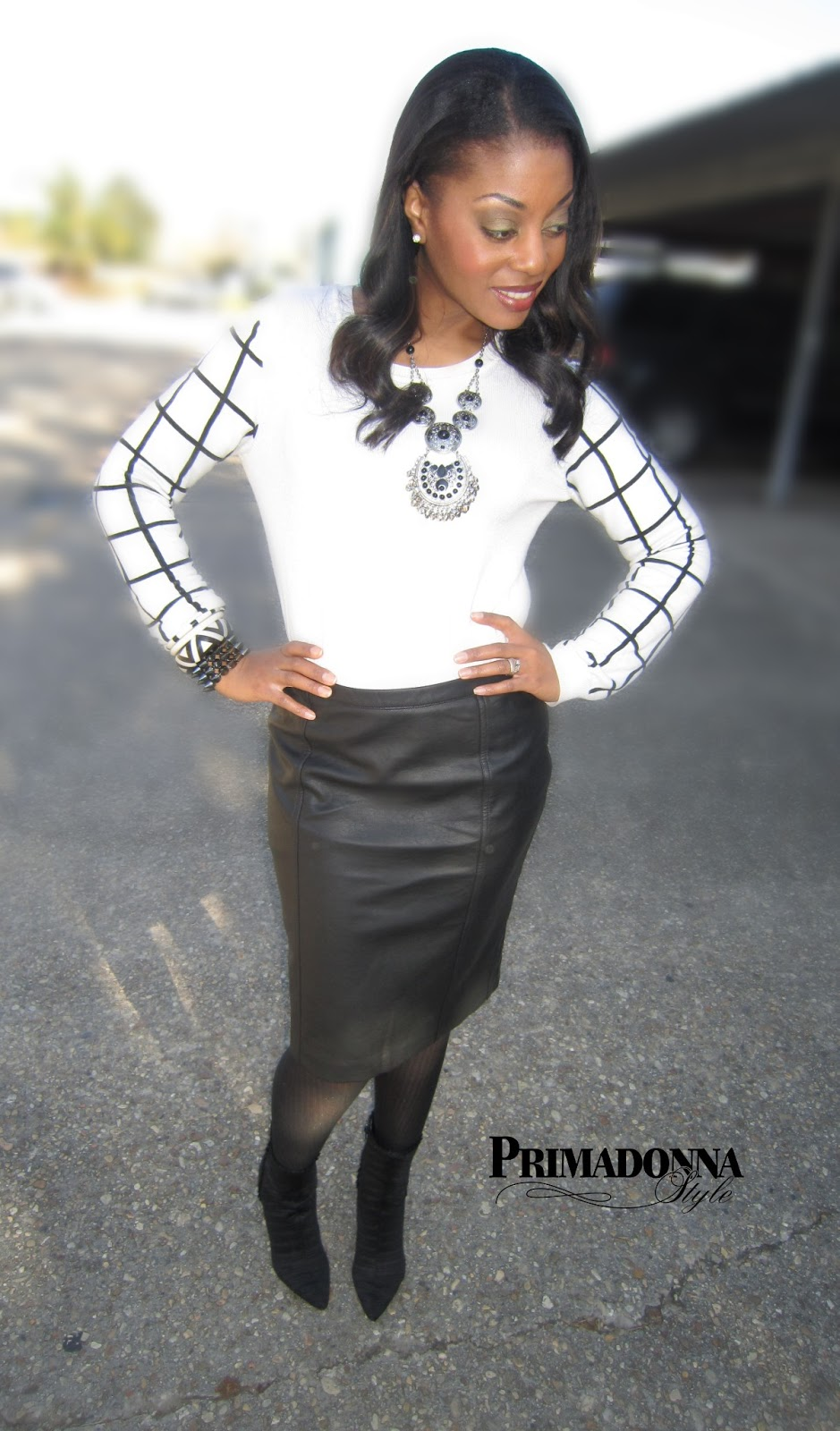 primadonna style work week chic how to wear a leather skirt