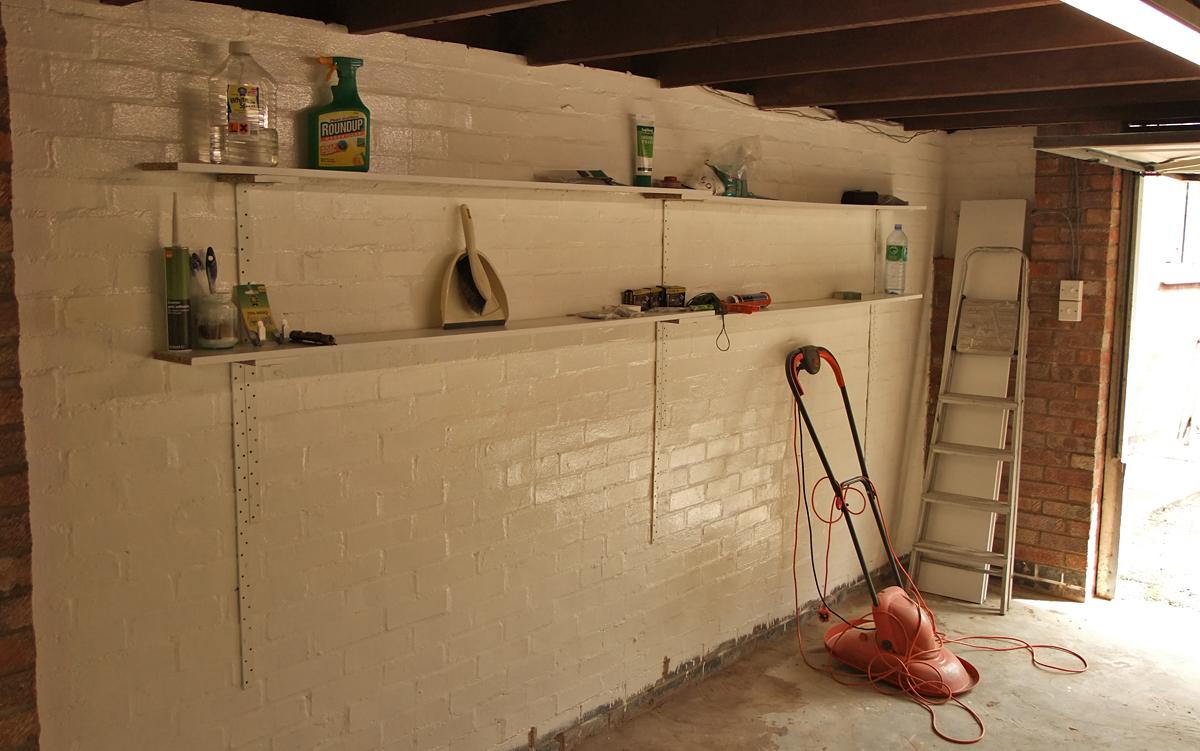 Wood Garage Shelves : wood garage shelving