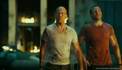 Bruce Willis and Jai Courtney in A Good Day to Die Hard movie image