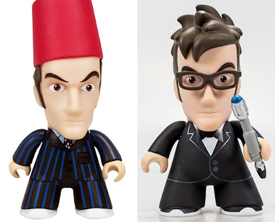 "San Diego Comic-Con 2015 Exclusive Doctor Who Variant 10th Doctor Titans 3"" Mini Figures - Fez and Tuxedo"