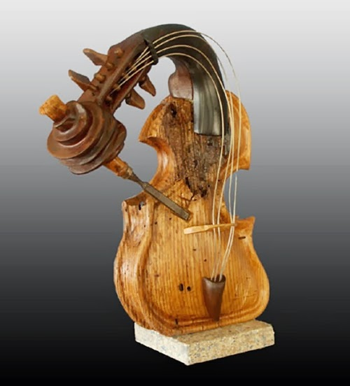 08-If-You-Want-It-Done-Right-Do-It-Yourself-Philippe-Guillerm-Musical-Instruments-Sculptures-French-Artist-Musician-Sculptor-Painter-Furniture-Maker-www-designstack-co