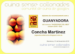 "Ganadora del concurso ""Ingrediente del mes, el huevo"" de Octubre en Cuina Sense Collonades"