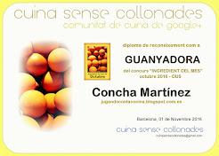 """Ganadora del concurso """"Ingrediente del mes, el huevo"""" de Octubre en Cuina Sense Collonades"""