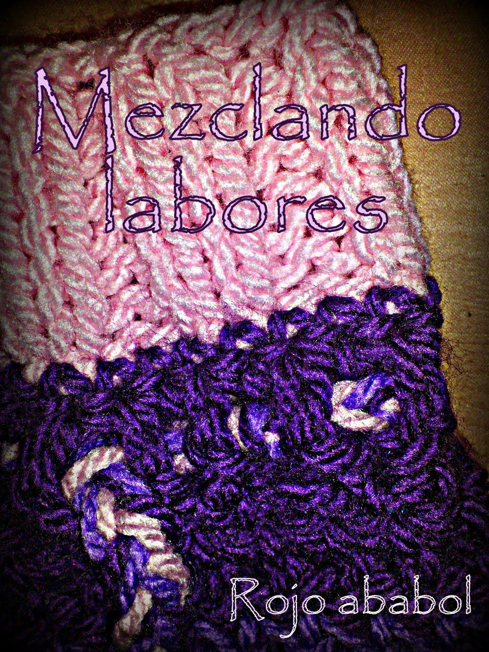 Rojo ababol como unir labor de punto y ganchillo tutorial - Labores de punto de lana ...