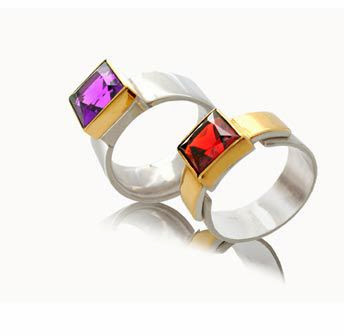 contemporary gemstone rings