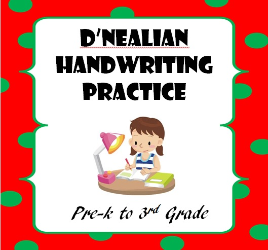 TPT Fonts 4 Teachers Need DNealian Handwriting Worksheets – D Nealian Cursive Handwriting Worksheets